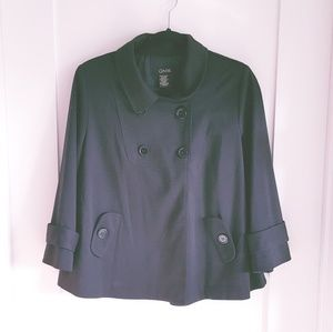 GNW 3/4 sleeve Bell Shaped Pea Coat